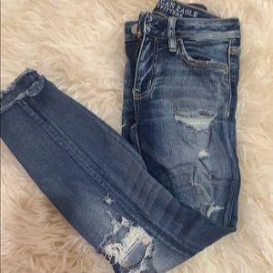 American Eagle Distressed Skinny Jean